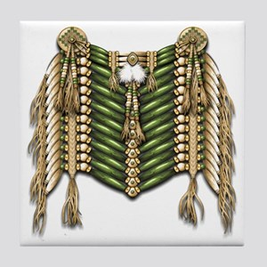 Native American Breastplate 6 Tile Coaster