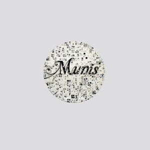Munis, Matrix, Abstract Art Mini Button