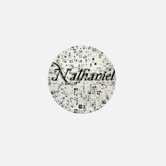 Nathaniel, Matrix, Abstract Art Mini Button