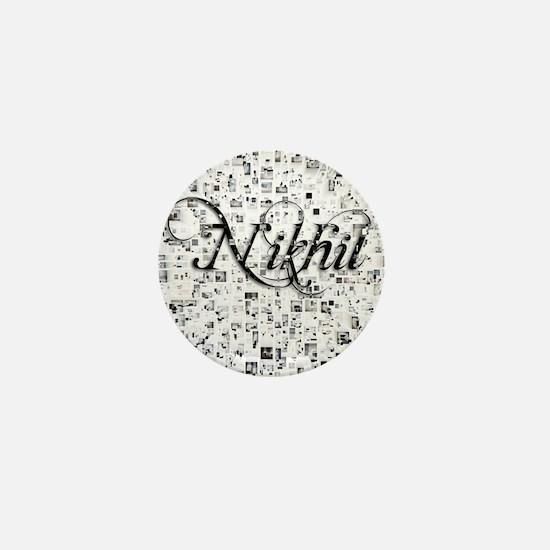 Nikhil, Matrix, Abstract Art Mini Button