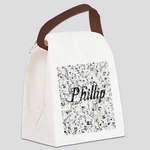 Phillip, Matrix, Abstract Art Canvas Lunch Bag