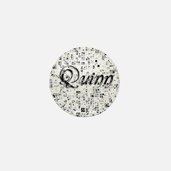 Quinn, Matrix, Abstract Art Mini Button