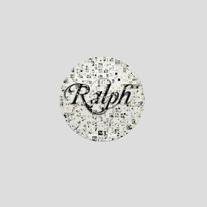 Ralph, Matrix, Abstract Art Mini Button