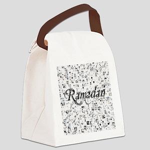Ramadan, Matrix, Abstract Art Canvas Lunch Bag