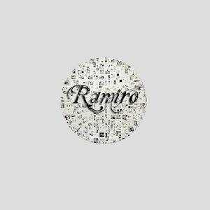 Ramiro, Matrix, Abstract Art Mini Button