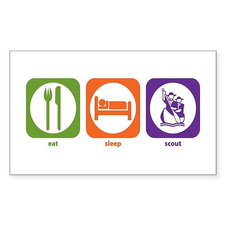 Eat Sleep Scout Rectangle Sticker