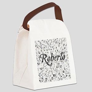 Roberto, Matrix, Abstract Art Canvas Lunch Bag