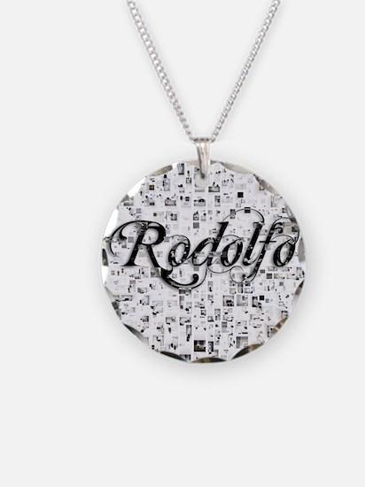 Rodolfo, Matrix, Abstract Ar Necklace
