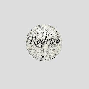 Rodrigo, Matrix, Abstract Art Mini Button