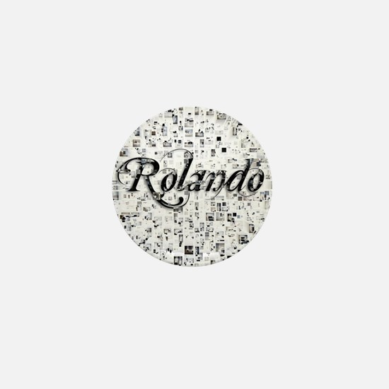 Rolando, Matrix, Abstract Art Mini Button