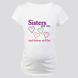 Sisters Are We Personalize Maternity T-Shirt