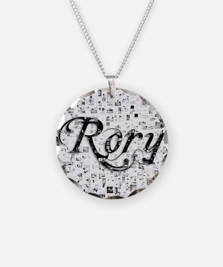 Rory, Matrix, Abstract Art Necklace