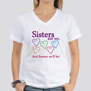 Sisters Are We Personalize Women's V-Neck T-Shirt