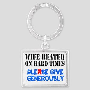 HARD TIMES - WIFE BEATER - PLEA Landscape Keychain