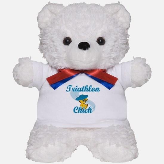 Triathlon Chick #3 Teddy Bear