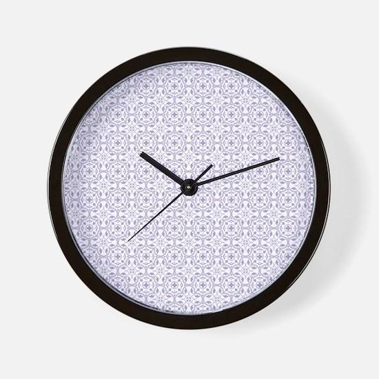 Amara lavender Shower curtain Wall Clock