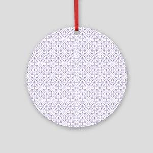 Amara lavender Shower curtain Round Ornament