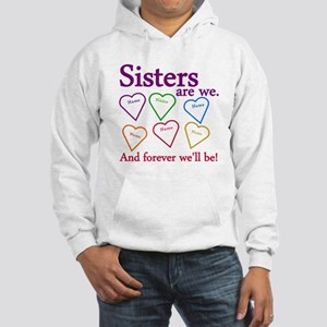 Sisters Are We Personalize Hooded Sweatshirt