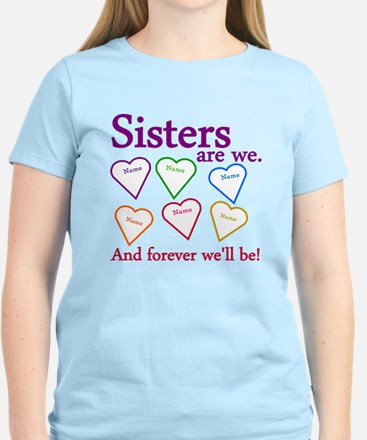 Sisters Are We Personalize Women's Light T-Shirt