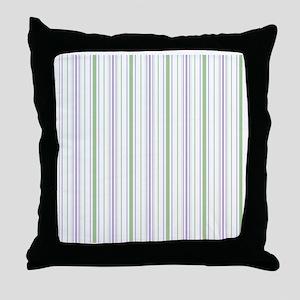 Lilac Stripe Shower curtain Throw Pillow