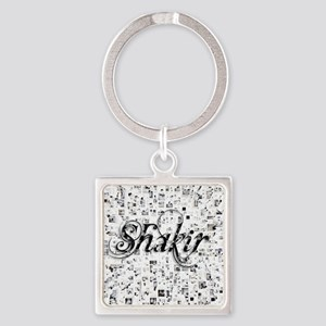 Shakir, Matrix, Abstract Art Square Keychain