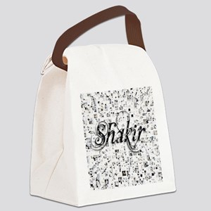 Shakir, Matrix, Abstract Art Canvas Lunch Bag