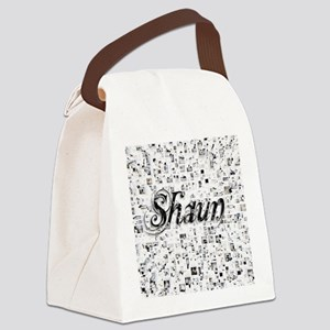 Shaun, Matrix, Abstract Art Canvas Lunch Bag