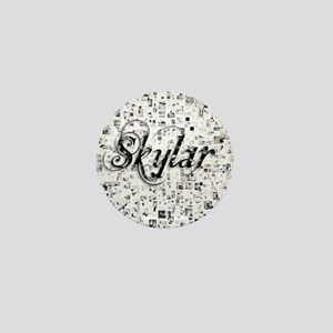 Skylar, Matrix, Abstract Art Mini Button