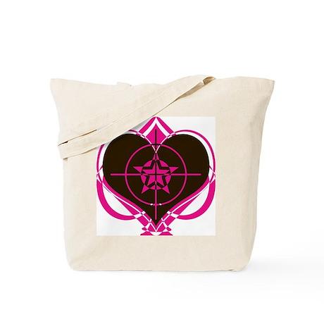target heart Tote Bag