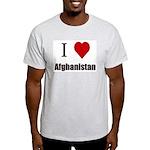 I love Afghanistan Ash Grey T-Shirt