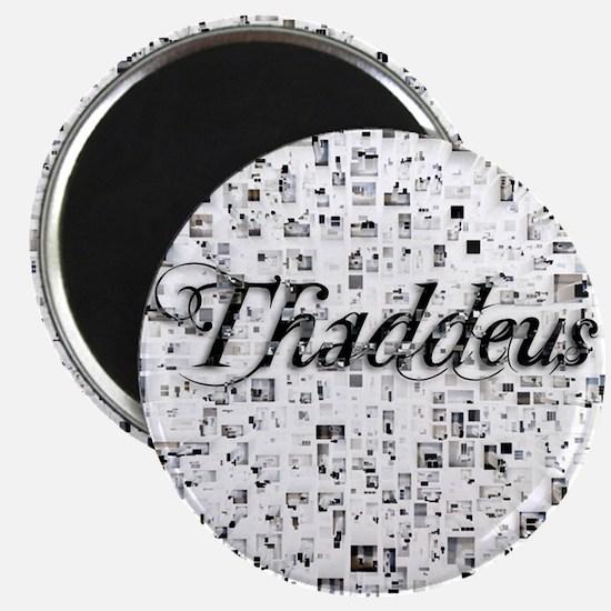 Thaddeus, Matrix, Abstract Art Magnet