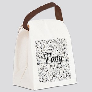 Tony, Matrix, Abstract Art Canvas Lunch Bag