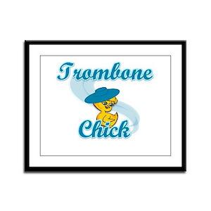 Trombone Chick #3 Framed Panel Print