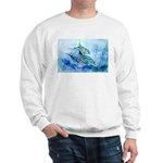 Whimzical Danube Dolphins Sweatshirt