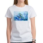 Whimzical Danube Dolphins Women's T-Shirt