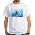 Whimzical Danube Dolphins White T-Shirt