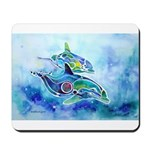 Whimzical Danube Dolphins Mousepad