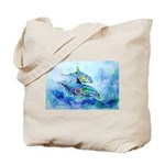Whimzical Danube Dolphins Tote Bag