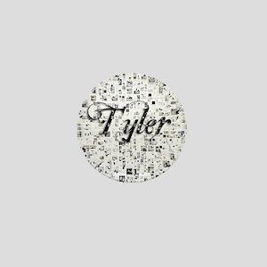 Tyler, Matrix, Abstract Art Mini Button