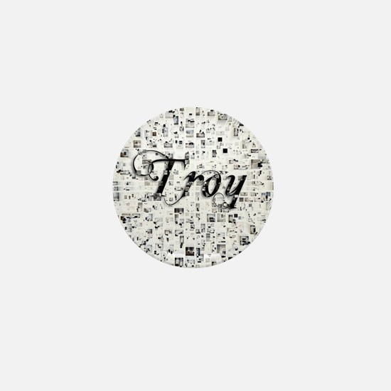 Troy, Matrix, Abstract Art Mini Button