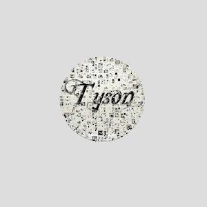Tyson, Matrix, Abstract Art Mini Button