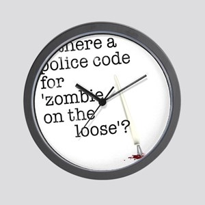 zombie on the loose Wall Clock