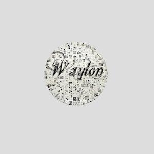 Waylon, Matrix, Abstract Art Mini Button