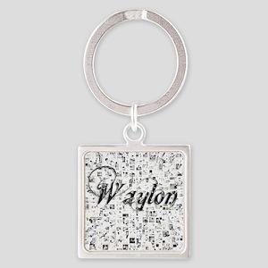 Waylon, Matrix, Abstract Art Square Keychain