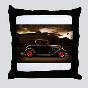 1932 black ford 5 window Throw Pillow