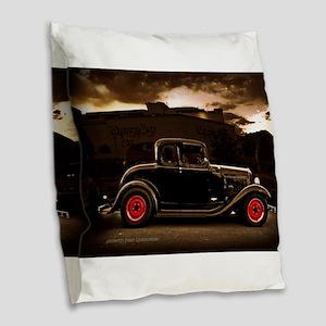 1932 black ford 5 window Burlap Throw Pillow
