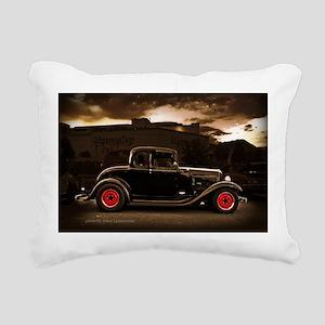 1932 black ford 5 window Rectangular Canvas Pillow