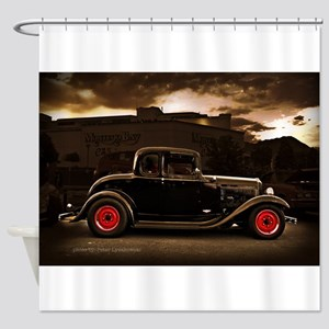 1932 black ford 5 window Shower Curtain