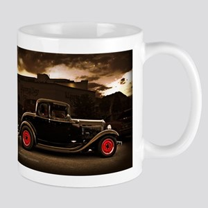 1932 black ford 5 window Mugs