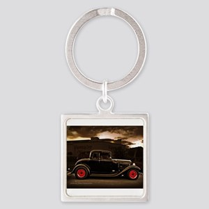 1932 black ford 5 window Keychains